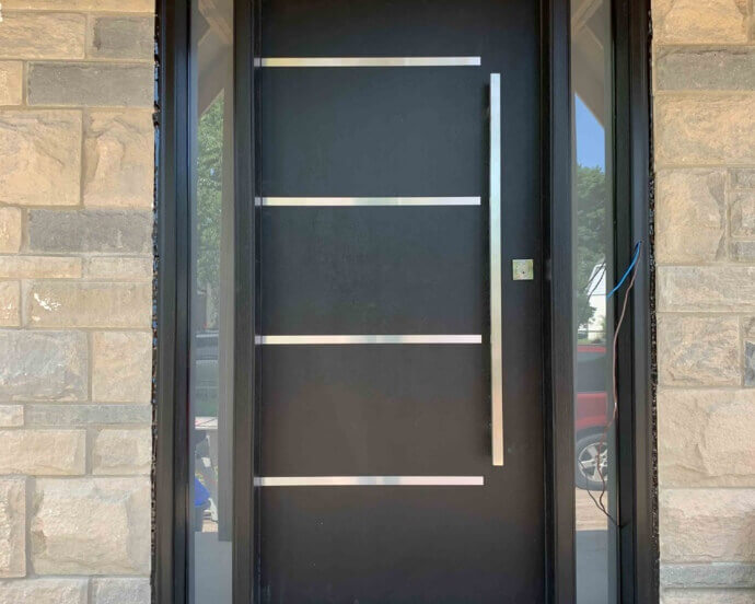 Fiberglass Door with Steel Lines